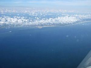 Approaching Boulogne from 5000ft.